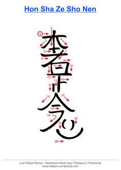 Traçado do Hon Sha Ze Sho Nen - símbolo do Reiki Usui Simbolos Do Reiki, Reiki Chakra, Simbolos Reiki Karuna, Wicca, 7 Chakras Meditation, What Is Reiki, Reiki Symbols, Spiritual Practices, Qigong