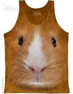 The Mountain - Guinea Pig Face Mens Tank Top, $24.00 (http://shop.themountain.me/guinea-pig-face-mens-tank-top/)