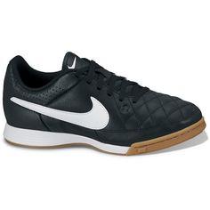 50.00 Nike Black Jr. Tiempo Genio Leather Indoor Soccer Shoes - Kids ba1d60d431682