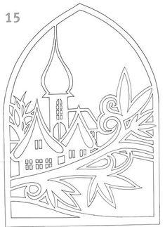 Zimní vystřihovánka Paper Cutting Patterns, Paper Cutting Templates, Christmas Paper, Christmas Colors, Christmas Crafts, Kirigami Templates, Origami, Paper Art, Paper Crafts