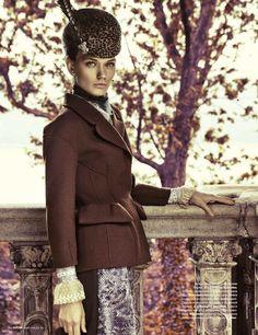 """Woman"": Lyoka Tyagnereva as Keira Knightley as Anna Karenina by Grant Thomas for Tatler Russia"