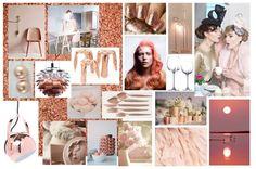 Création 3 : Cuivré.  Thématique : rose poudré    #cuivré #doré #orange #moodboard #rosepoudré #madynoushka