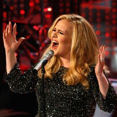 """British singer Adele performs the song """"Skyfall"""" at the 85th Academy Awards in Hollywood"""