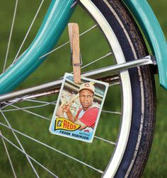Baseball card in bike spokes