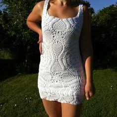 white crochet summerdress summer dress lace hippi bohemian boho by JezebelAdrian on Etsy