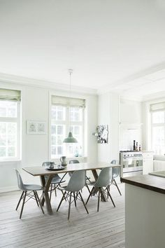 Gray Hardwood Floors on Trend Interior design trends are taking a turn towards GRAY when it comes to hardwood floors! According to Elle Decor, gray wood floors are popping up all over Pinterestboa…