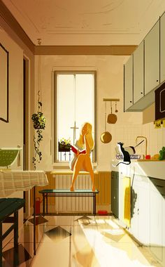 Illustrations by Pascal Campion Illustration Inspiration, Digital Illustration, Pascal Campion, Aesthetic Art, Cat Art, Oeuvre D'art, Art Girl, Art Inspo, Concept Art
