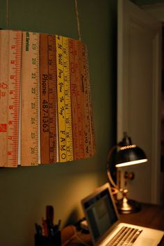 Vintage ruler lamp - Who would have thought?