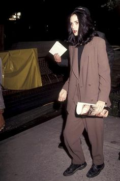 christopherniquet: winona ryder, in the perfect minimal grunge pant suit in the mid nineties.