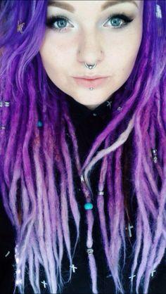 Purple dreadlocks