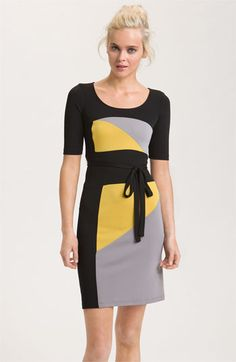 BCBGMAXAZRIA 'Leticia' Colorblock Jersey Dress
