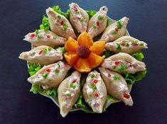 Pasta z wędzonego łososia w muszlach makaronowych Fresh Rolls, Sushi, Grilling, Strawberry, Food And Drink, Menu, Cooking Recipes, Favorite Recipes, Fruit