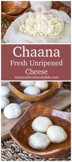 Chaana (Fresh Unripened Cheese) and Taste of Eastern India - Tara's Multicultural Table #recipe #Chaana #cheese #homemade #Bengali #Indian #India Healthy Appetizers, Healthy Breakfast Recipes, Easy Healthy Recipes, Delicious Recipes, Yummy Food, Sri Lankan Recipes, Friend Recipe, Indian India, Cheese Dishes