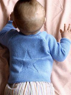 Strik selv: Barnebluse med stjerne - Hendes Verden