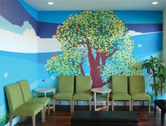pediatrician office design. different theme for each room. | i'll