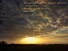 Psalm 34:8 & a printable
