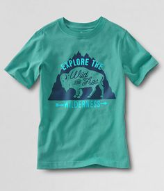 Wild & Free Lands' End Boy's Graphic T-Shirt | Frank Ozmun Graphic Design