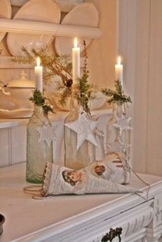 exquisite totally white vintage christmas ideas 17 Christmas White Vintage Decoration Ideas