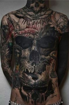 Insomnia - Quite dark and messy tattoos, but some people love it. #TattooModels #tattoo