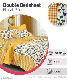 Checkout this latest Bedsheets_500-1000 Product Name: *Fancy Cotton Printed Double Bedsheets* Fabric: Bedsheet - Cotton  Pillow Covers - Cotton  Dimension: ( L X W ) - Bedsheet - 100 in x 90 in Pillow Cover - 27 in X 17 in Description: It Has 1 Piece Of Double Bedsheet With 2 Pieces Of Pillow Covers Work: Printed Thread Count: 180 Country of Origin: India Easy Returns Available In Case Of Any Issue   Catalog Rating: ★4 (318)  Catalog Name: Comfilux Fancy Cotton Printed Double Bedsheets Vol 11 CatalogID_449495 C53-SC1101 Code: 083-3256924-7221