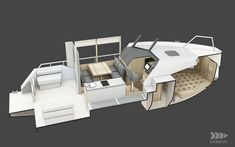 vik unveils electric boat that can be recharged from solar panels or wind power Small Diesel Generator, Small Houseboats, Small Yachts, Boat Hire, Shower Cabin, Electric Boat, Boat Interior, Interior Design, Boat Projects