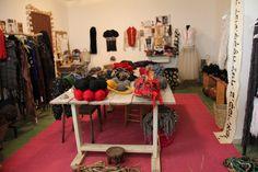 WALKTALK design studio tour visiting textile designer Edit Kaplan Friedberg, studio