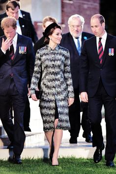 The Duke and Duchess of Cambridge along with Prince Harry attend part of a military-led vigil to commemorate the 100th anniversary of the beginning of the Battle of the Somme at the Thiepval memorial to the Missing in June 30, 2016.