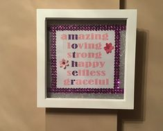 Glitter Mother's Day frame _ handmade Handmade Frames, Bank Holiday, More Fun, Glitter, Etsy, Things To Sell, Craft Frames, Sequins