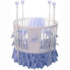 Choo Choo Train Round Baby Crib at LuxuryLamb. Shop for Choo Choo Train Round Baby Crib from Baby Furniture / Cribs / Round Cribs collection at affordable prices. Round Baby Cribs, Unique Baby Cribs, Nursery Crib, Baby Nursery Decor, Crib Bedding, Crib Accessories, Baby Mattress, Modern Crib, Crib Sets