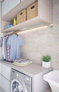 Achieving The Perfect Laundry Room Look Pantry Laundry Room, Laundry Room Shelves, Laundry Room Layouts, Laundry Room Bathroom, Laundry Room Organization, Laundry Room Design, Dining Room Design, Utility Room Designs, Laundry Room Inspiration