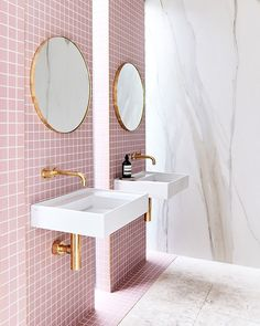 OMG! I just found the bathroom of my dreams. How insane is this space by @thestyleschool? You simply must check out this renovated townhouse on @becjudd's website. They are revealing a different room each day and they are all absolutely inspiring. @jamesgeer Styling: @aimeestylist