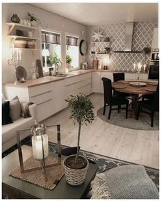 26 Best Farmhouse Kitchen Design Ideas To Bring Classic Look ~ House Design Ideas Best Kitchen Cabinets, Kitchen Cabinet Design, Interior Design Living Room, Living Room Decor, Kitchen Island, Modern Farmhouse Kitchens, Home Kitchens, Kitchen Modern, Farmhouse Ideas