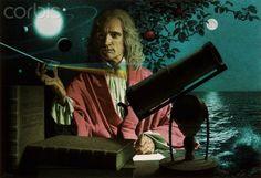 Portrait of Sir Issac Newton by Jean-Leon Huens