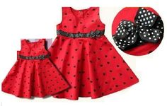 Free Shipping- Cute Baby Girl Black heart Red Dress.  -SZ  24Month