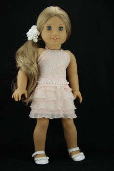 American Girl doll clothes Peach 4 piece by DolliciousClothes