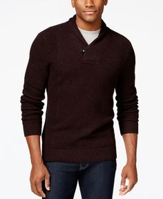 Alfani Big and Tall Textured Shawl Sweater, Only at Macy's