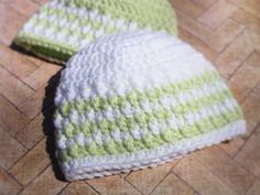 Crochet Baby Stripes Hat Newborn Hat Twins hat by LoveStringXO