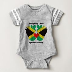 #party - #Everybody Loves A Jamaican Baby Football Bodysuit
