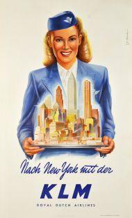 KLM - Nach New York mit der KLM, Royal Dutch Airlines.
