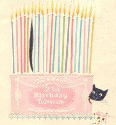 Birthday card from 1969 - such a cute design. @Meredith Wahlstrom Wright- this reminds me of you + wow-wow.