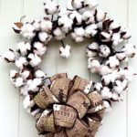 How to Make a Rustic Cotton Wreath