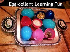 Enchanted Schoolroom: How do you like your eggs? Sound Cylinders with Easter eggs