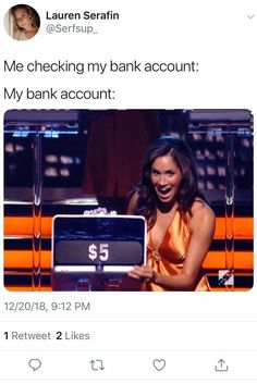 checking my bank account . Laugh your self out with various memes that we collected around the internet. Funny Tweets, Funny Relatable Memes, Funny Facts, Funny Jokes, Hilarious, Funny Blogs, Stupid Funny, Funny Stuff, Stupid Memes