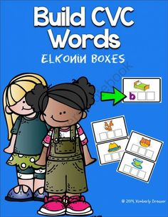 FREEBIE! CVC Word Work. Elkonin Boxes! Phoneme segmentation. from Kimberly's Kindergarten on TeachersNotebook.com - (13 pages) - Elkonin boxes are useful in helping your students build phonemic awareness. Bright, kid-friendly graphics. Use with whiteboard marker or letter magnets. Word work centers. Meets common core standards.