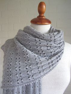 Free knitting pattern for lace scarf Tender pattern by maanel
