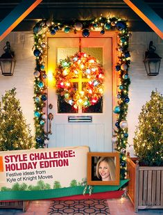 #Holiday decorating ideas and inspiration for your front door #christmas #curbappeal | From The Home Depot's Apron blog series Holiday Style Challenge and Kyle of Knight Moves