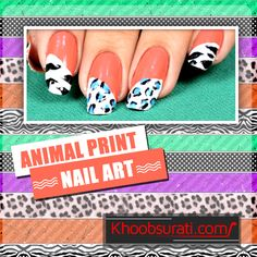 Animal Print Nail Art Design Tutorial Take out your nails from hibernation and Give them an exotic and wild look!!!!!!!!!!!!!!!!!!!!!!!!!!!!!!Two amazing animal prints are clashed so beautifully in this tutorial JUST FOLLOW. #NailCare #NailArtDesign #NailArt  Visit For Video:- https://www.youtube.com/watch?v=MQudYBiOB3M
