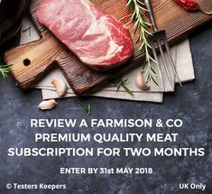Review a Farmison & Co premium quality meat subscription for two months UK Only - #meat   #meatsubscription #tastetesting #productreview #free