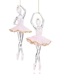Holiday Lane Set of 2 Ballerina Ornaments, Only at Macy's