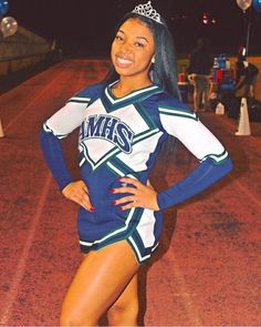 💙INSTAGRAM/PINTEREST: Trapinaz💙 Cheerleading Photos, Cheerleading Uniforms, Cheer Uniforms, Black Cheerleaders, Cheer Tryouts, Cheer Picture Poses, Cheer Outfits, School Outfits, Cheer Dance